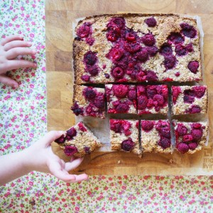 lovely little lunchbox raspberry oat bars