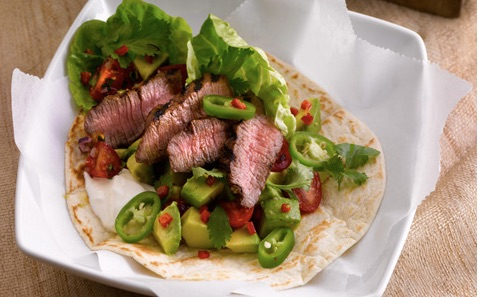 Bord Bia Spicy Beef Tortilla Wraps