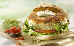 fish burgers with tomato salsa