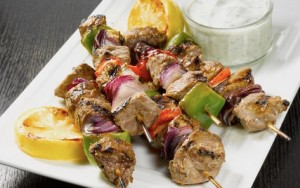 Healthy Lunch Ideas greek style lamb kebabs