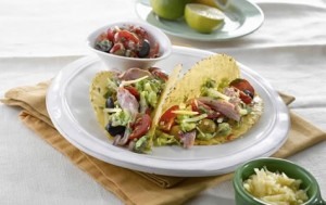 Healthy Lunch Idea ham tacos