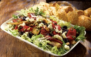 healthy salads roasted vegetables with cheese