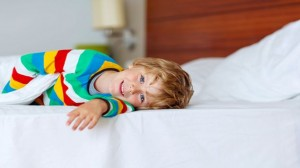 boy in hotel room