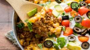 mexican beef rice casserole