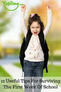 12 Useful Tips For Surviving The First Week Of School