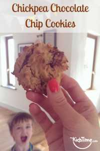 Chickpea Chocolate Chip Cookies Pinterest