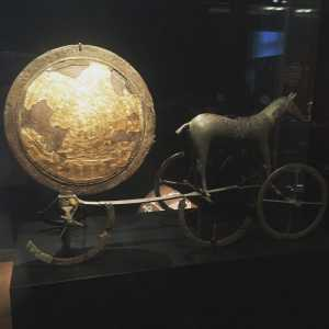 The golden Sun Chariot found in a Viking burial chamber