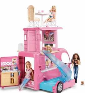 barbie pop up camper van