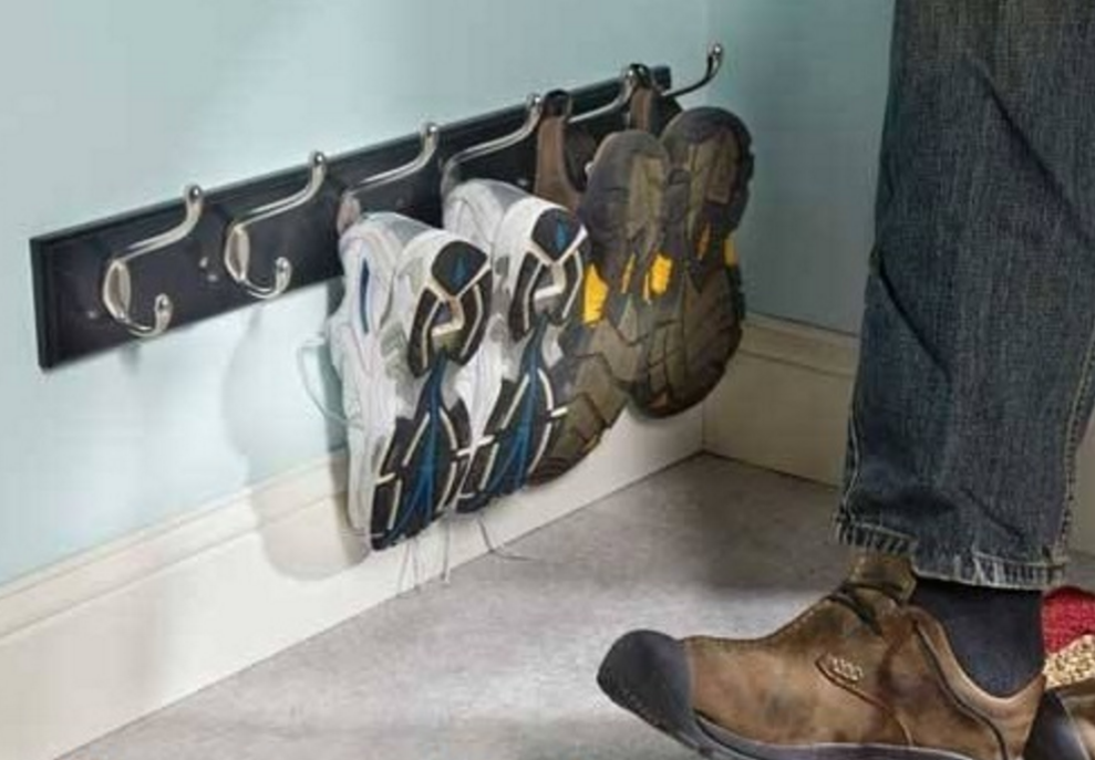 10 practical storage hacks to help declutter the house for Cool wall hook ideas