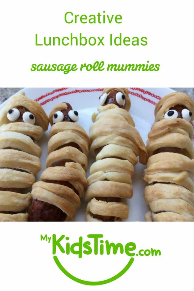 creative lunchbox ideas sausage roll mummies