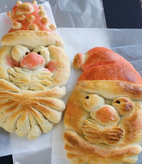 Kid Friendly Christmas Recipes Santa Bread
