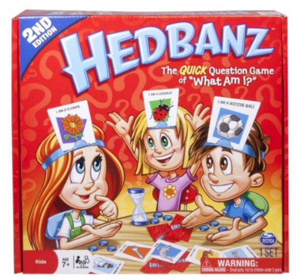 we used to play this with bits of paper stuck to our foreheads hedbanz is the question game of what am i where each player has a card on a headband on - Family Games To Play At Christmas
