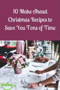 make ahead christmas recipes