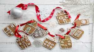 Hanging gingerbread village