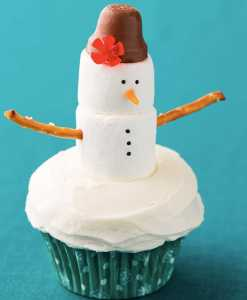 snowman christmas cupcake recipe from cooking classy