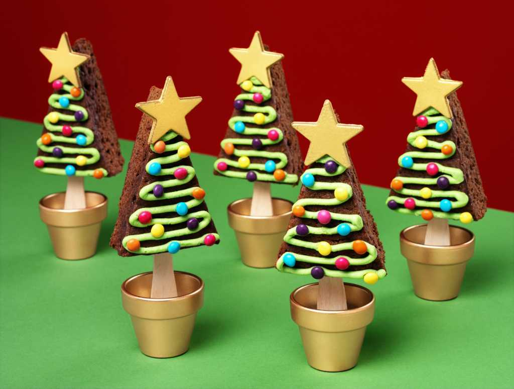 christmas tree brownie pops for Christmas baking