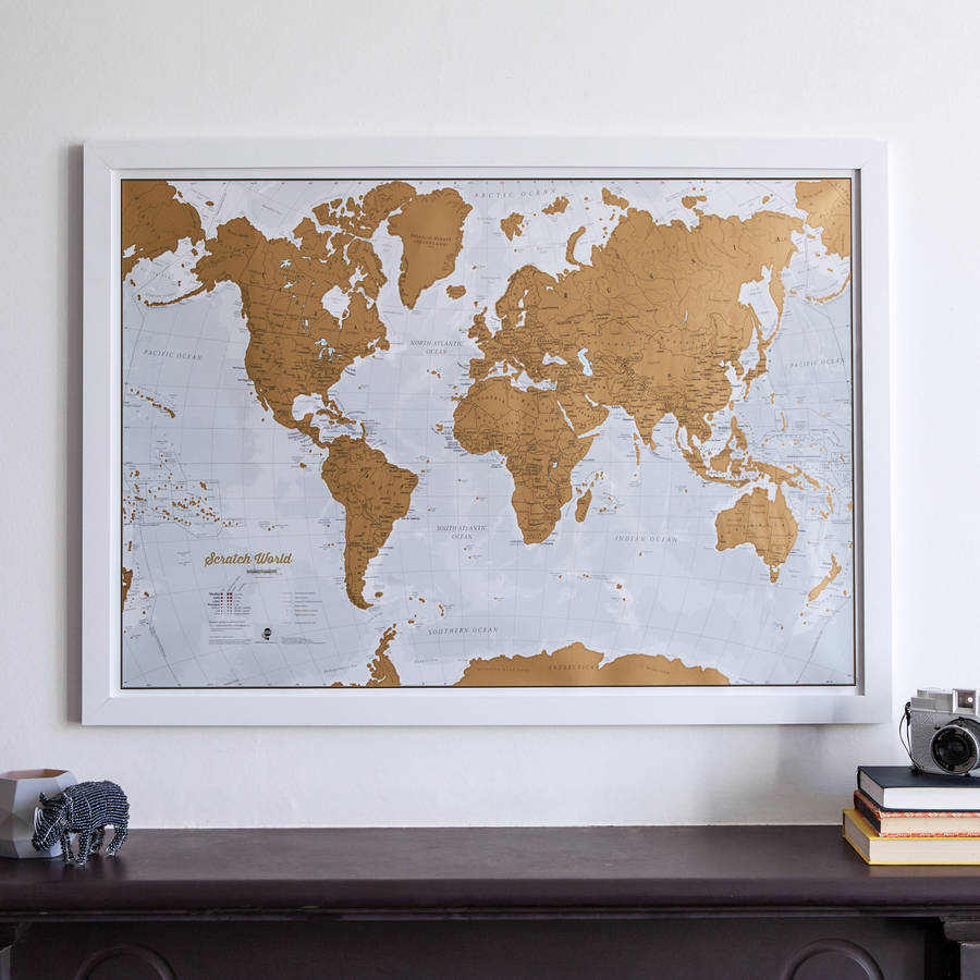 20 quirky personalised christmas gift ideas for the whole family scratch the world map personalised christmas gifts gumiabroncs Image collections