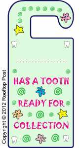 tooth fairy ideas door hanger
