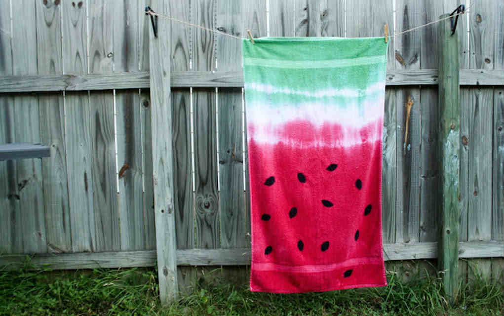 Tie dye towel crafts for kids - Mykidstime