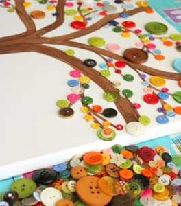 crafts for kids button art from simply designing