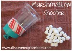 Crafts for kids Marshmallow shooter from discover explore learn