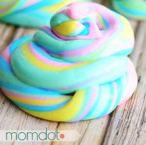 crafts for kids unicorn poop slime from Mom Dot