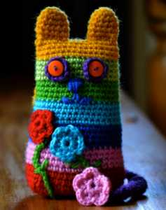 Crafts for Kids Crochet Cat from The Green Dragonfly