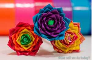 Craft for kids duct tape flower pens or pencils