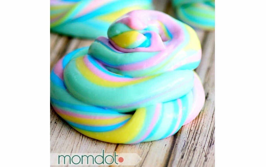Unicorn poop slime crafts for kids - Mykidstime