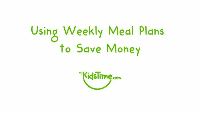 using weekly meal plans