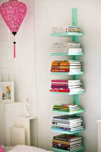 vertical bookshelf idea