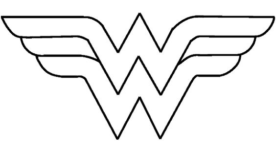 Rare image intended for wonder woman template printable
