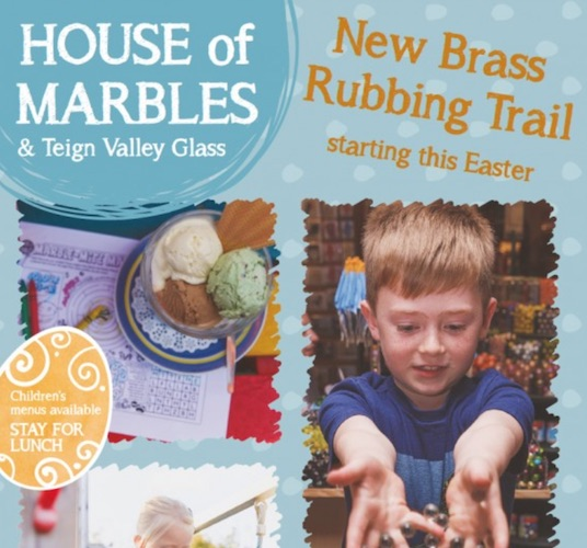 house of marbles brass rubbing trail Easter events for kids and families in the UK