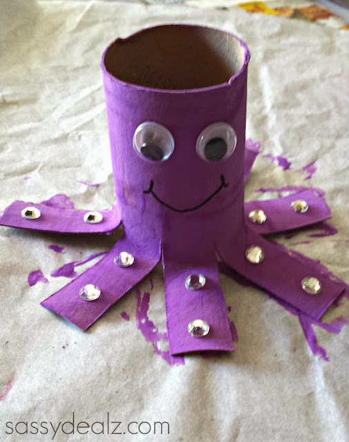 octopus paper craft