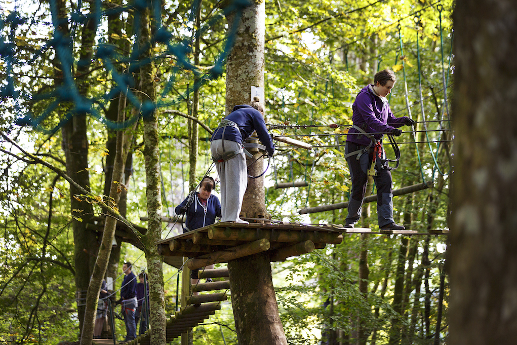 Head into the Blue Easter Family Activities Zip line in Lough Key