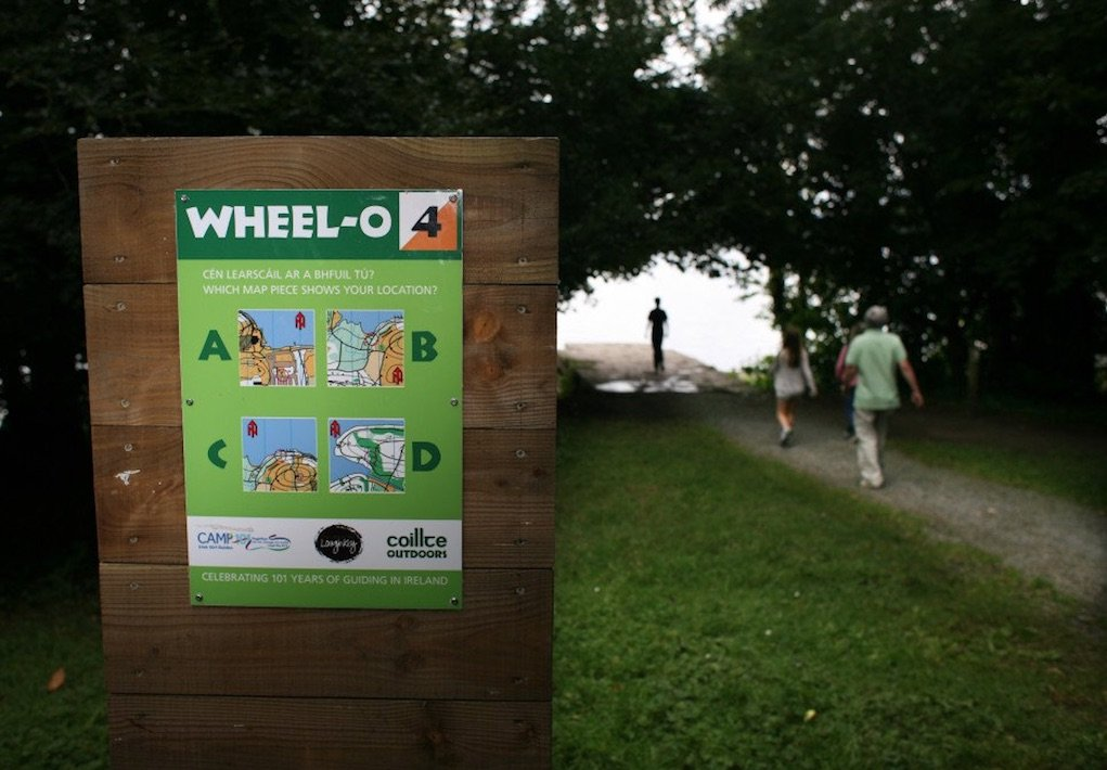 Wheel O Map at Lough Key Forest Park
