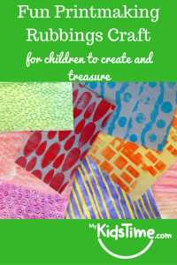 Fun printmaking rubbings craft for kids