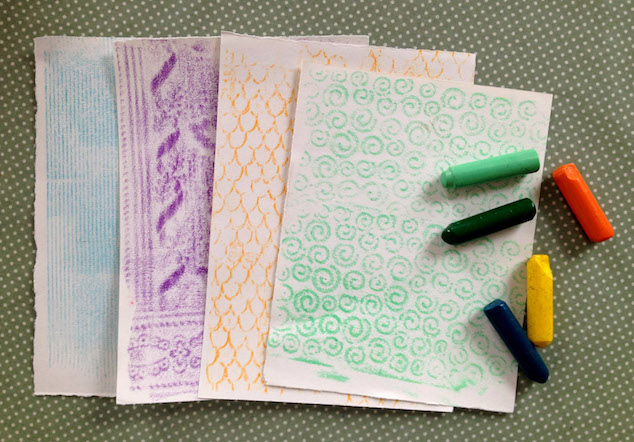 Rubbings Craft for Children Step 3