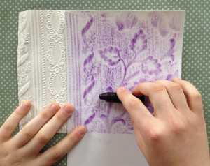 Rubbings Craft for Children Step 2