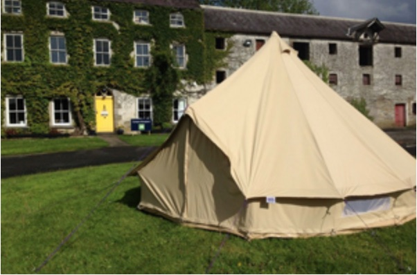 camping for families Bell Tent Westport House