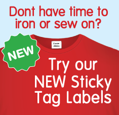 stick on name tag labels