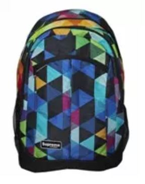 best school bags coloured triangles back pack from the book haven