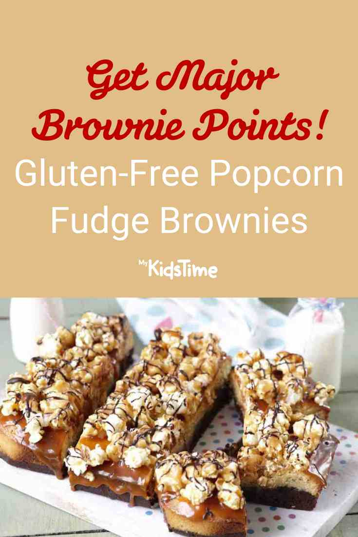Major Brownie Points for These Gluten-Free Popcorn Fudge Brownies! - Mykidstime