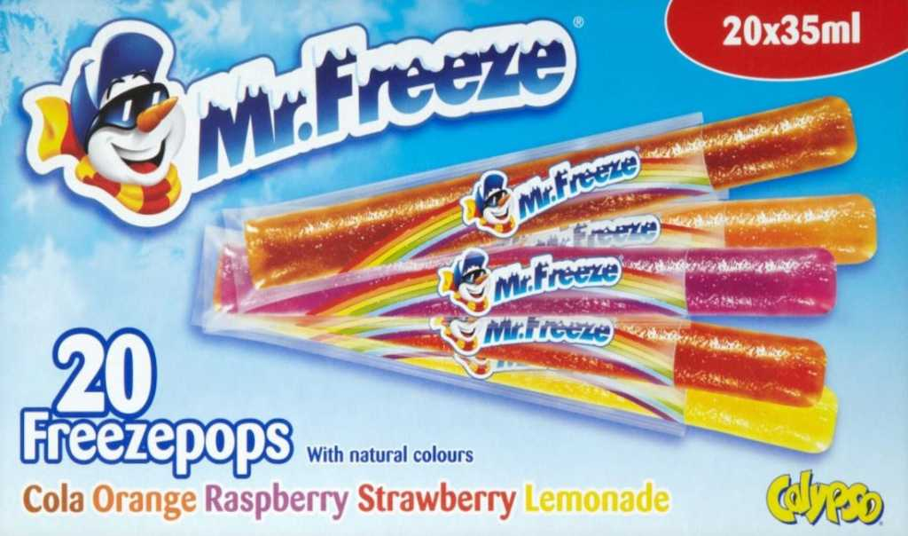 Childhood things I loved Mr Freeze Ice Pops