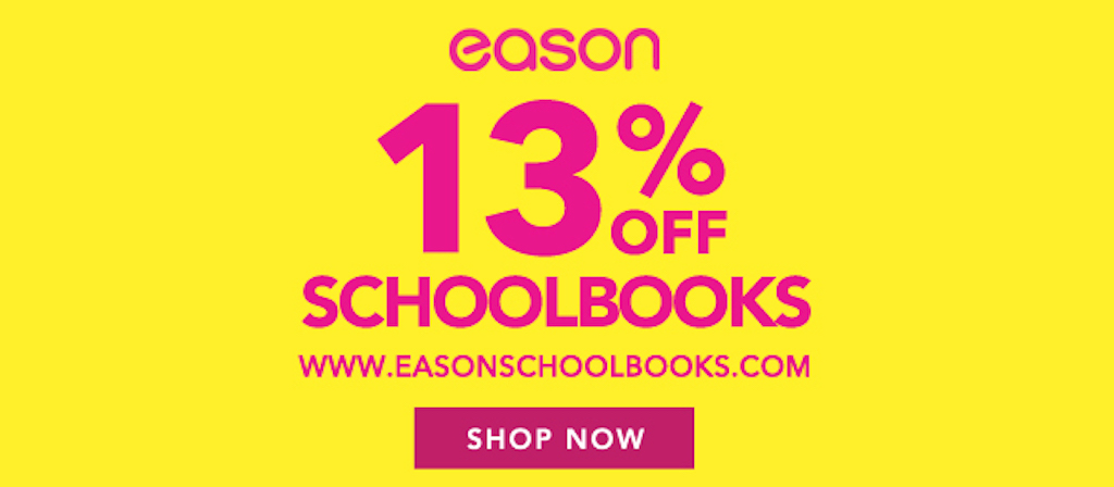 save money off school books at Eason online