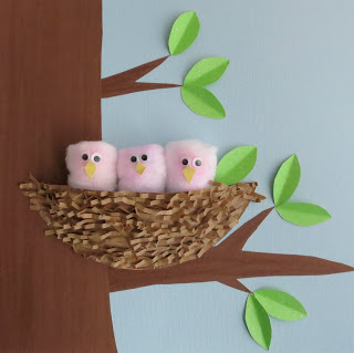 baby nest cotton wool craft