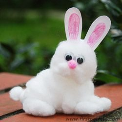 cotton ball bunny
