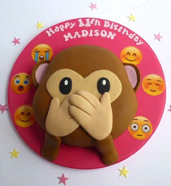 Emoji cheeky monkey cake