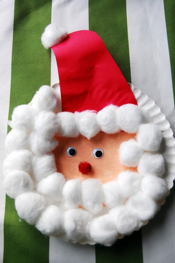 santa cotton wool craft