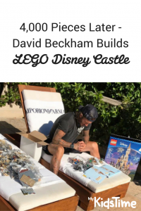 David Beckham builds lego